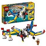 LEGO 31094 Creator Rennflugzeug, Hubschrauber oder Düsenjäger, 3-in-1 Bauset, Flugzeugsspielset mit Piloten-Minifigur, Spielzeuge für Kinder ab 7 Jahren