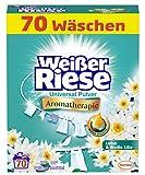 Weißer Riese Universal Pulver, Aromatherapie Lotus & Weiße Lilie, Vollwaschmittel, 70 Waschladungen, Riesen Duft Erlebnis