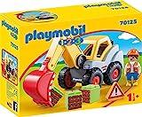 PLAYMOBIL 1.2.3 - 70125 Schaufelbagger mit Bauarbeiter, ab 1,5 Jahren