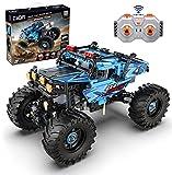 CaDA Monster Truck (ferngesteuert, mit PRO Motoren), hellblau, 699 Teile (kompatibel z.B. mit Lego Technic 42099), C61008W