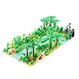 Tropischer Regenwald Botanische Landschaft mit Bauplatten für Lego Baumhaus, Baumhausabenteuer, Bausteinspielzeug Kompatibel mit Lego Bauer