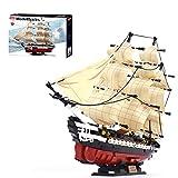 OviTop 1: 170 Verfassung Segel Fregatte Bausteine Schiffsmodell, Kompatibel mit Lego Piratenschiff Segelschiff - 1118 Teile