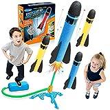 Let's Arezooo Spielzeug ab 3-12 Jahre Junge, Weihnachten Geschenk für Kinder Outdoor Spielzeug 3 4 5 6 7 8 9 10 Jahre Junge Spielzeug für Draußen Gartenspielzeug Rakete Spielzeug Geschenk 4-12 Jahre