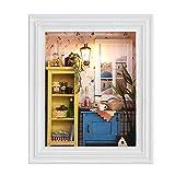 GYC DIY Puppenhaus, Fotorahmen Design Warm House Kit mit Möbeln, Home Decoration für Freunde, Kinder, Liebhaber