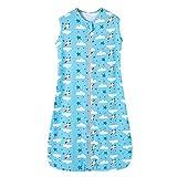 Schlafsack baby sommer mädchen junge Frühling schlafanzug baumwolle dünner kinder schlafsack Blau- 0.5 tog. (150CM (6-10Jahre), Blau Rakete Wolken Stern)