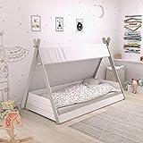 habeig Babybett TIPI mit Lattenrost 70x140cm Kleinkindbett Kinderbett Indianerzelt Zelt