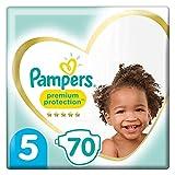 Pampers Premium Windeln für Babys, Größe 5, 70 Windeln