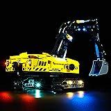 KYL Upgrade LED Beleuchtung für Lego 42121 Technik Hydraulikbagger, Beleuchtung Licht Set für Lego 42121 Bagger (Nicht Enthalten Lego Modell)