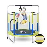 LKZL Fitnesstrampolin, Runde Trampolin-Rebounder für Den Innen- Oder Außenbereich mit Hängeringen & Basketballkorb, Home/Büro Cardio Trainer Trampoline (Color : Style2)