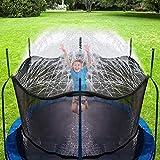 Hydrogarden Trampolin Sprinkler Trampolin Spray Wasserpark Spaß Sommer Outdoor Wasserspiel Trampolin Zubehör, zum Anbringen am Trampolin Sicherheitsnetz Gehäuse (12m)