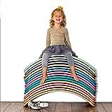 PUDDINGT® Balance Board Aus Holz Transparent Lackiert, Yoga Kinder Wippe Swing Balancierbrett - Wackelbrett für Kinder und Erwachsene(Laden Sie 440 lb),Grau