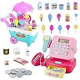 Magent Elektronische Registrierkasse Interaktive Spielzeug Kaufladen Kasse Spielzeug mit Kaufmannsladen Zubehör Rollenspiel Geschenk für Kinder