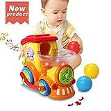 ACTRINIC Baby Spielzeug 18 Monate, Früher pädagogischer Elektrischer Zug mit Bällen,Beleuchtung/Musik/Universalrad,das Beste Spielzeug als Geschenk für 1 2 3 Jahre Junge Mädchen Kleinkind Spielzeug