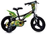 Dinosaurier Kinderfahrrad Dino- Trex Jungenfahrrad | TÜV geprüft | Original | Kinderrad mit Stützrädern - Das Fahrrad als Geschenk für Jungen (16, Zoll)