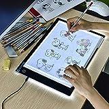 XIAOSTAR Led Licht Pad A4, Leuchttisch einstellbare leuchtkasten Copy Board Leuchtkasten, mit Type-C Ladekabel für Diamond Painting Skizzieren Animation (LB-A4)