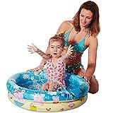 NET TOYS Aufblasbarer Baby-Pool Peppa Pig - Blau 74 x 18 cm - Niedliches Kinder-Wasserspielzeug Planschbecken für Babys und Kleinkinder - Genau richtig für Drinnen & Draußen