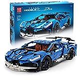 CELMAN Technik Bausteine Auto 1:8 als Bugatti Divo Sportwagen Dwo 3858 Teile Konstruktions-Set Klemmbausteine Kompatibel mit Großen Marken