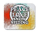 Makoroni - Friedensliebe Schneerutschen - rutschfestes Gummi - Computer, Spiele, Büromousepad