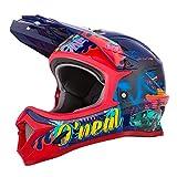 O'NEAL | Mountainbike-Helm | Kinder | MTB Downhill | ABS Schale, Lüftungsöffnungen für optimale Belüftung & Kühlung, Sicherheitsnorm EN1078 | Sonus Youth Helmet Rex | Multi | Größe L