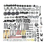 HYZH Technik Ersatzteilset, 169 Teile Technik zahnräder Klemmbausteine Set, Education Ersatzteile Set Technik Teile Steine Einzelteile, Technik Teile Kompatibel mit Lego Technic
