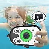 Kinderkamera wasserdichte 2,4-Zoll-IPS-HD-Bildschirm Videorecorder Aktion Vorschule Unterwasserkamera für 3-9 Jahre alte Jungen Mädchen Spielzeugkamera Geschenke 32 GB SD-Karte enthalten