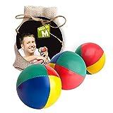 ✓ Das Ultimative Jonglierball Set ✓ 3 Jonglierbälle mit Naturfüllung ✓ Online Lern Video ✓ Jute Geschenkbeutel