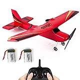 RC Flugzeug: Modellflugzeug Ferngesteuert Flugzeuge 2,4 GHz 2CH 6-Achsen Gyro EPP Z50 RTF RC Plane-RC Flieger für Kinder 340mm Spannweite mit 2 Packungen Batterien