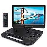 FANGOR 10,1 Zoll tragbarer Blu-ray DVD Player mit um 270 ° drehbarem Bildschirm 1920 * 1080 Full HD Heimkino Unterstützt HDMI Out/AV IN/LAN/USB/SD mit wiederaufladbarem Akku