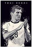 Poster Und Gedruckte Fußball Fußballspieler Toni Kroos Sport Bild zur Raumdekoration Leinwand Malerei Wandkunst Bilder 19.7'x27.6'(50x70cm) Kein Rahmen