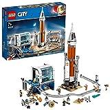 LEGO 60228 City Weltraumrakete mit Kontrollzentrum, Expedition zum Mars Set, von der NASA inspiriertes Weltraumspielzeug für Kinder mit Astronauten, Wissenschaftlern und Roboter-Minifiguren