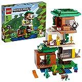 LEGO 21174 Minecraft Das Moderne Baumhaus Spielzeug, Set für Jungen und Mädchen ab 9 Jahren mit Figuren