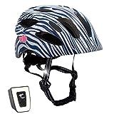 Crazy Safety Fahrradhelm für Kinder (Zebra, 54-58)