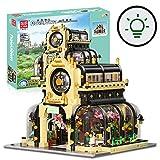 Oeasy Botanischer Garten mit Beleuchtungsset Architektur Bausteine, 2147 Klemmbausteine Haus Modular Modell, Konstruktionsspielzeug Kompatibel mit Lego