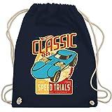 Shirtracer Hot Wheels Tasche - Classic speed trials - blau - Unisize - Navy Blau - Rennfahrer - WM110 - Turnbeutel und Stoffbeutel aus Baumwolle