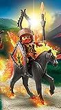 PLAYMOBIL 9882 Feuerpferd mit Reiter (Burnham Raiders) (Folienverpackung)