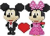 QSSQ 803Pcs + Micro Building Blocks Cute Cartoon Mouse Mickey Minnie Anime Figur 3D-Modell Diamond Bricks Spielzeug Für Kinder