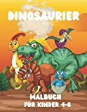 Dinosaurier-Malbuch für Kinder 4-6: 50 niedliche und erstaunliche Jumbo-Dinosaurier zum Ausmalen Seiten zum Entspannen und kreativen Basteln