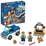 LEGO 60241 City Polizeihundestaffel, Polizei-Spielzeug mit Auto, Hund und Minifiguren für Kinder ab 4 Jahre, spannendes Kinderspielzeug