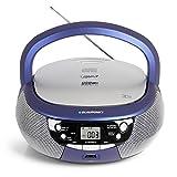 Blaupunkt B 4 PLL Kinder CD Spieler mit UKW PLL Radio, CD-Player, USB-Anschluss, AUX IN, Stereo-Lautsprecher, Netz- und Batterie-Betrieb, Kinder Musikbox in Blau, B 4 PLL BL