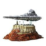 VPPI Technik Baustein Sternenzerstörer Bausatz, Moc The Empire Over Jedha City, 5162 Klemmbausteine Super Star Destroyer Bauset Kompatibel mit Lego Star Wars