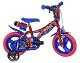 Spiderman Kinderfahrrad Spiderman Jungenfahrrad – 12 Zoll - Original Lizenz - Kinderrad mit Stützrädern