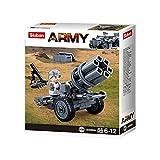 Sluban Klemmbausteine SL07170, WWII - Mini-Set Raketenwerfer (76 Teile) [B0680A], Spielset , Klemmbausteine, Soldaten, mit Spielfigur, Army WWII, bunt
