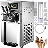 VEVOR Speiseeisbereiter Desktop Kommerzielle Softeismaschine 16-18 L/H 50Hz Eismaschine Ice Cream maker 220V Edelstahl Maschine