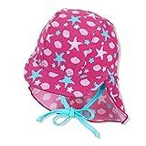 Sterntaler Baby-Mädchen Schirmmütze mit Nackenschutz Sealife Sonnenhut, Magenta, normal