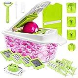 Sedhoom Direct 23 in 1 Gemüseschneider Küchegeräte, Gemüsehobel Zwiebel Zerkleiner, Edelstahl Klingen, Obst und Gemüseschneider Zwiebelschneider, Ideal zum Hobeln von Obst und Gemüse (MEHRWEG)