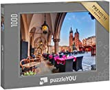 """puzzleYOU: Puzzle 1000 Teile """"Krakauer Tuchhalle und St. Marien-Basilika in Polen"""""""