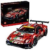"""LEGO 42125 Technic Ferrari 488 GTE """"AF Corse #51"""" Supersportwagen, Exklusives Sammlermodell, Modellbausatz für Erwachsene"""