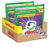Ariel Waschmittel Pods All-in-1, Color Waschmittel, 104 Waschladungen, Farbschutz