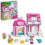 LEGO 10942 DUPLO Disney Minnies Haus mit Café, Minnie Mouse Spielzeug zum Bauen ab 2 Jahre, Kinderspielzeug mit Puppenhaus