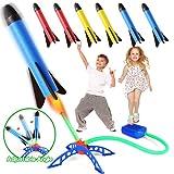 Rakete Spielzeug, Druckluftrakete, Raketentwerfer Outdoor Spiele für Kinder mit 6 Schaumstoff Raketen, Garten Spielzeug, Kinder Garten Spielzeug daraußen, Geschenk für Junge Mädchen 3-12 Jahre